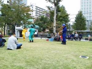 箱崎公園にてストリートライブ