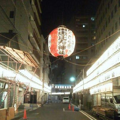 恵比寿神社前