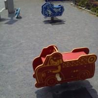 消防車と飛行機の遊具